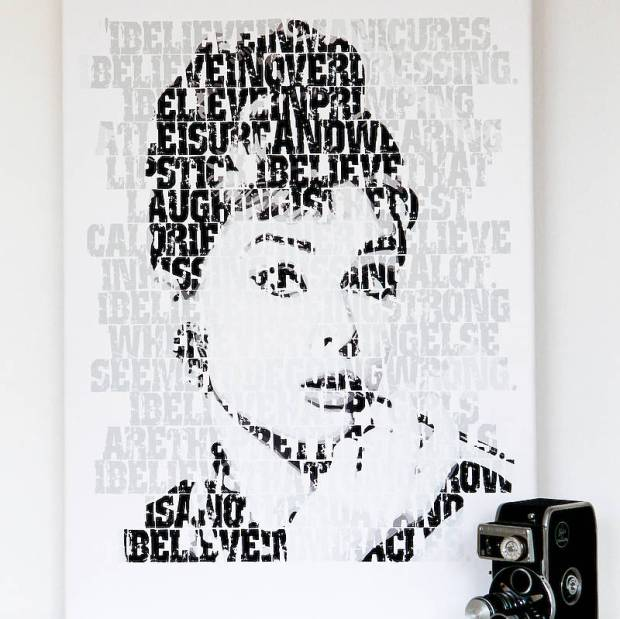 Audrey I Believe print