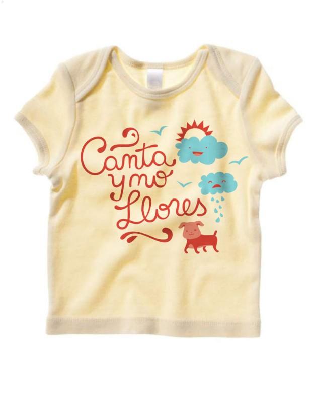 Canta y No Llores baby lap tee by Dos Borreguitas