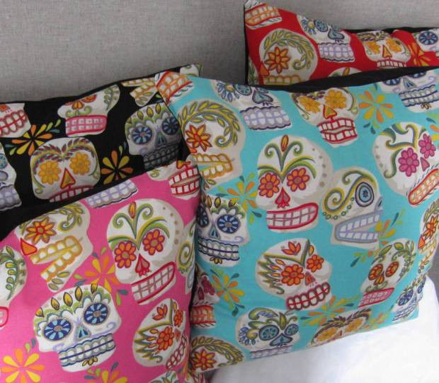 original_mexican-glittery-sugar-skulls-cushion-cover