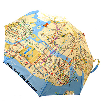 Subway map umbrella
