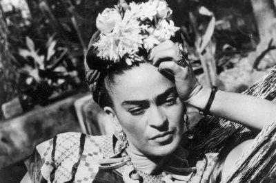 Frida in her garden
