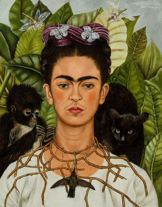 NYBG_Frida_Kahlo_Self-Portrait_with_Thorn_Necklace_and_Hummingbird-e1443212867413